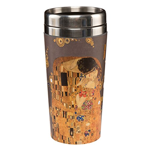 Goebel Artis Orbis Der Kuss To Go Becher, Kaffeebecher, Trinkbecher, Gustav Klimt, Metall-Kombi, 0.5 L, 67017011