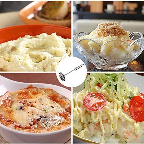 Energeti Edelstahl-runde Kartoffelbrecher-Stampfer-Küchenpressen