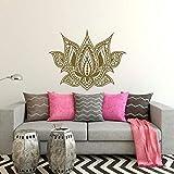Wandaufkleber Yoga Lotus Flwor Böhmischen Schlafzimmer Dekor Wandkunst Interior Desig Grafik Morrogain Muster Boho Abnehmbare 57x75cm