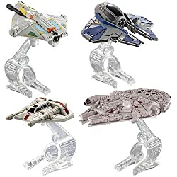 Hot Wheels – Star Wars – Vehículos de Héroes – Pack 4 Naves Miniatura DieCast