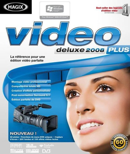 MAGIX Video deluxe 2008 Plus - Ensemble complet - 1 utilisateur - DVD - Win - français