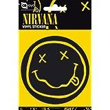 Nirvana Smiley Vinyl Sticker 15x10cm