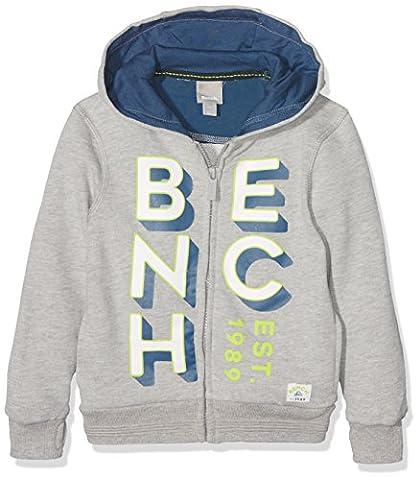 Bench Jungen Sweatshirt Zip Thro Graphic Sweat Grau (Grey Marl MA1023), 176 (Herstellergröße: