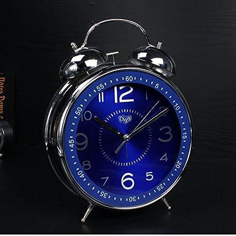 Personnalité Créatrice, Réveil, Double Bell Horloge,Le Saphir Bleu