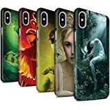 Offiziell Elena Dudina Hülle / Matte Snap-On Case für Apple iPhone X/10 / Pack 18pcs Muster / Die Vögel Kollektion