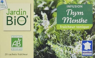 Jardin Bio Infusion Thym Menthe 30 g - Lot de 4