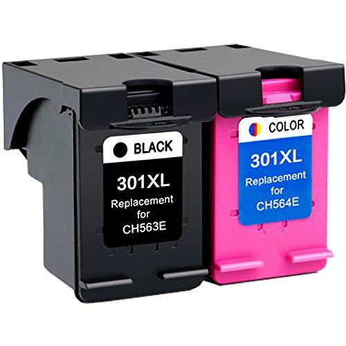 Wolfgray 301XL Kompatible für Druckerpatronen HP 301 XL (1 Schwarz, 1 Tri-Farbe) Ersatz für HP Deskjet 2544 1010 2540 1510 2510 2050 1050 3055A 3050