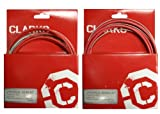 Clarks Universal Bicycle Bike Gear Derailleur & Brake Cable Set - Stainless Steel 'RED'