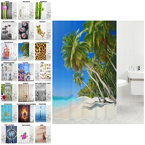 duschvorhang viele sch ne duschvorh nge zur auswahl hochwertige qualit t inkl 12 ringe. Black Bedroom Furniture Sets. Home Design Ideas