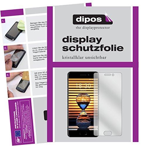 dipos I 6X Schutzfolie klar passend für Meizu Pro 7 Folie Displayschutzfolie