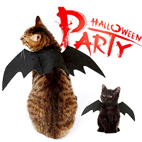 Surenhap Katze Bat Wings Kostüm, Halloween Pet Fledermaus Flügel Kostüm Fledermaus für Kleine Haustiere, Hund Katze Bat Wings Cosplay ()