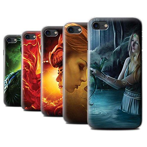 Officiel Elena Dudina Coque / Etui pour Apple iPhone 7 / Eau/Bébé Design / Dragon Reptile Collection Pack 5pcs