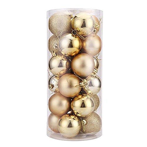 Forepin® Set di 24 Palle per Festa di Compleanno Matrimonio Decorazione Diametro Diametro 4cm (Oro)