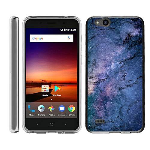 TurtleArmor Schutzhülle für ZTE Avid 4, ZTE Tempo X, flexibel, Schlankes Design, TPU-Bumper-Schutzhülle, Marble Galaxy (Virgin Mobile-smartphones 4g)