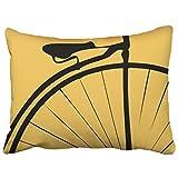 Musesh bicicletta mountain bike in rosso bianco cuscini di tiro copertura del cuscino per divano Home decorative Pillowslip Gift Ideas Household Pillowcase zippered pillow Covers 40,6x 40,6cm, Cotone, Multi 10, 20x26