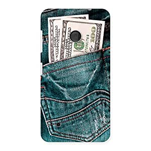 Stylish Money Money Colorful Jeans Back Case Cover for Lumia 530