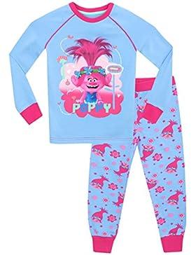 Trolls - Pijama para niñas - Trolls Poppy - Ajuste Ceñido