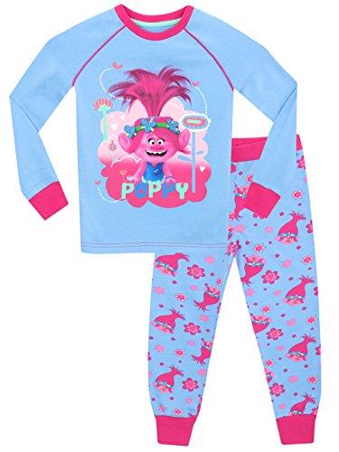 Trolls Pijama para niñas Poppy ( 3 - 4 Años)