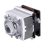Tesfish Aluminium Heatsink Cooling Fan+44mm Lens 60 degree for 50W 100W LED Chip
