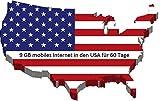 60 Tage Prepaid SIM Karte für USA, Puerto Rico, Hawaii & US Jungferninseln mit 9GB Daten Option für 60 Tage