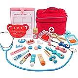 Rolanli Arztkoffer Kinder, Arztkoffer Holz Emulational Medizinisches Spielzeug für Kinder Rollenspiele