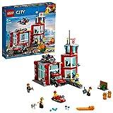 LEGO City Fire - Parque de Bomberos, estación de juguete para construir, incluye camión, moto acuática y...