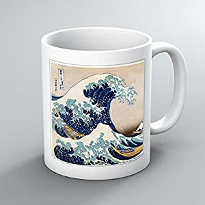 oriental hokusai sous la grande vague de kanagawa imprim th tasse caf tasse tasse en. Black Bedroom Furniture Sets. Home Design Ideas