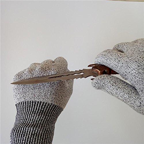 JZDCSCDNS Schnittfeste Handschuhe Anti-Kratz Anti-Messer Anti-Zerreißen Verschleißfest Küche Schlachten Persönlicher Schutz Schneidejob...
