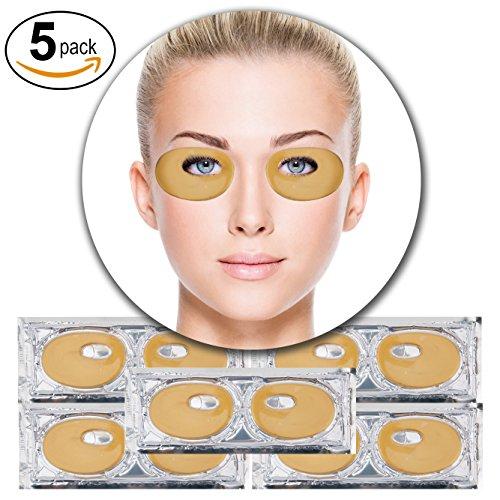5 Paare 24K Goldene Kollagen Gel Kristall Augen Masken Feuchtigkeit Falten Lifting