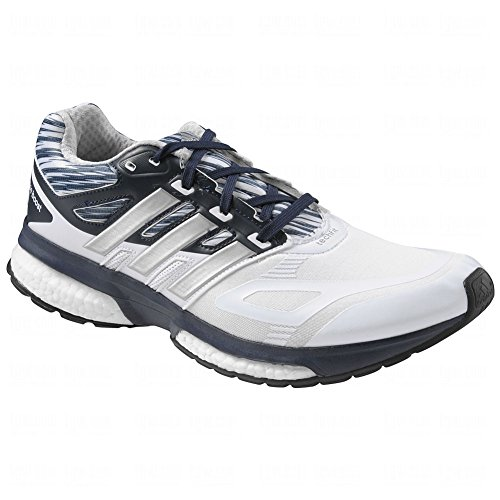 Adidas Response Boost Techfit Chaussures de Running pour homme - White-Silver-Navy