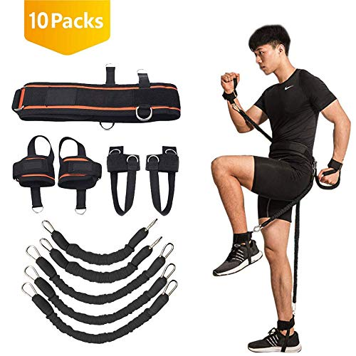 YNXing Strength Training Rope per Boxe, Basket, Scherma Training Resistance Rope Blue Stretch Cord Tension Corda Attrezzature per il fitness