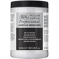 Winsor & Newton 3054920 Weisses Gesso, Grundierung für Acrylfarben, Ölfarben, Alkydfarben - 946ml Topf