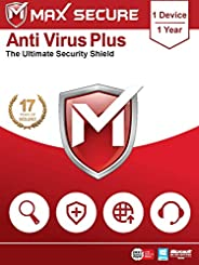 Max Secure Antivirus Plus - 1 PC, 1 Year (Email Delivery in 2 Hours - No CD)