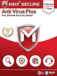 Max Secure Software Antivirus Plus for Windows(all versions) - 1 PC, 1 Year (Email Delivery in 2 Hours - No CD)