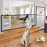 hugeBrove Portable Folding Safety Magic Gate Pets Dog Mesh Safe Guard (Black)