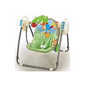 Fisher-Price M6710 Baby Gear - Rainforest Babyschaukel für unterwegs