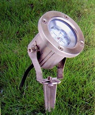 C-Light / 2,3 W - 230 V LED Bodenstrahler Wegleuchte mit Erdspieß + Schuko Netzstecker / IP54 - Gu10 LED 48 SMD warmweiss / 140 Lumen von C-Light GmbH - Lampenhans.de