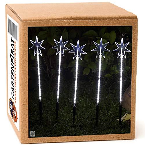 Sternenstäbe-Set mit 5 Garten sterne Leuchtstäbe 100 LED außen Weihnachten