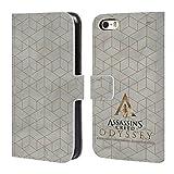 Head Case Designs Offizielle Assassin's Creed Gold Und Marmor Odyssee Muster Brieftasche Handyhülle aus Leder für iPhone 5 iPhone 5s iPhone SE