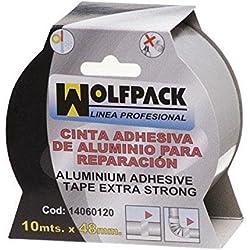 Wolfpack 14060120 - Cinta adhesiva (aluminio, 48 mm x 10 m)