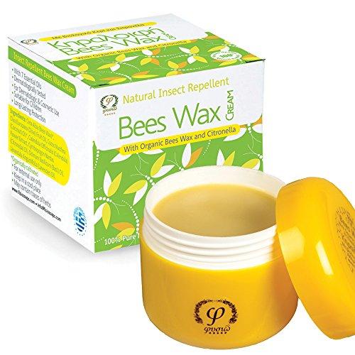 Fysio Insektenschutzmittel Creme - Baby Insektenschutzmittel - Mit Organischem Bienenwachs - Organischem Olivenöl und ätherische Öle- 50ml - Deet Frei - Geeignet für Kinder und Babys