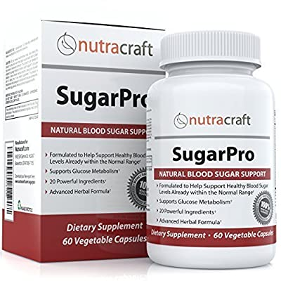 Blood Sugar Support Supplement & Glucose Control - MONEY BACK GUARANTEE - Natural Blood Sugar Optimizer with Chromium, Gymnema Extract, White Mulberry & Alpha Lipoic Acid - 60 Vegetable Capsules from Nutracraft