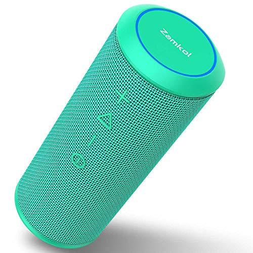Wireless Bluetooth Lautsprecher Subbass Leistungsstarker 24 Watt Wireless 360° Sound Bluetooth Speakers V4.2 mit Wasserfest Stoßfest Mikrofon und Reinem Bass Zamkol (Petrol)