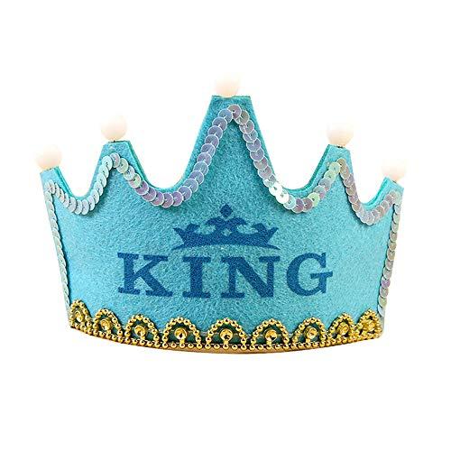 1 stück kinder alles gute zum geburtstag krone mit led leuchten party hüte helle geburtstag party könig königliche krone für kinder (Königliche König Krone Für Erwachsene)