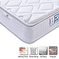 LASUAVY Pocket Spring Mattress with Memory Foam