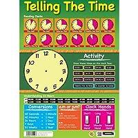 Sumbox - Póster educativo para aprender la hora (texto en inglés)