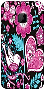 Snoogg Seamless Texture With Flowers Designer Protective Back Case Cover For HTC M9