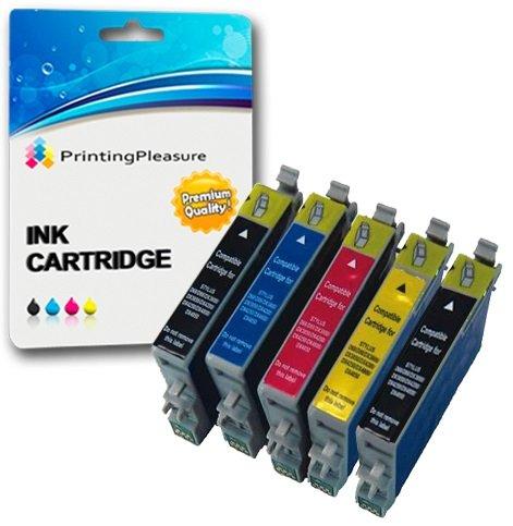 5 xl compatibili t0611-t0614 (t0615) cartucce d'inchiostro per epson stylus d68 d88 d88+ dx3800 dx3850 dx3850+ dx4200 dx4250 dx4800 dx4850 dx4850+ - nero/ciano/magenta/giallo, alta capacità