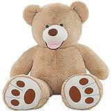 VerCart Grand Nounours Ours en Peluche XXL Teddy Bear Jouet Oursons Douce Cadeaux pour Bébé Enfant Ado Fille Garçon Marron