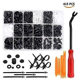 Rivetti Plastica, Preciva 415 pcs Rivetti in Plastica per Parafanghi per Auto in Plastica Pannello Rivestito, etc…
